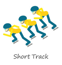 Short track icon isometric style vector