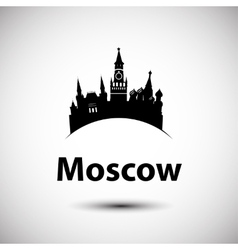 silhouette moscow vector image