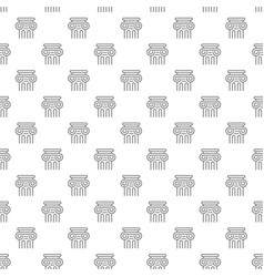 simple ancient column seamless pattern with vector image