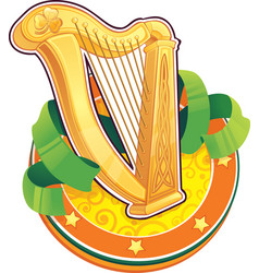 St patrick day symbol the irish harp vector