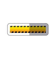 sticker striped hazard tape line construction vector image