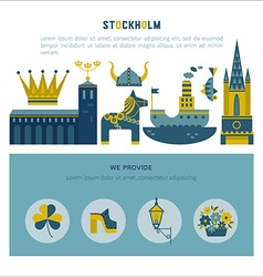 Stockholm icon set vector