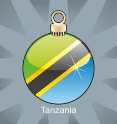 Tanzania flag on bulb vector image