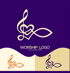 The fish of jesus and the musical note vector