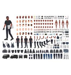 thief or burglar constructor set bundle of flat vector image