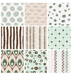Trendy pattern set vector