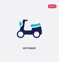 two color motorbike icon from delivery and vector image