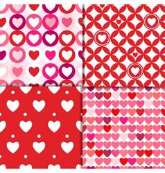 valentine patterns pink vector image