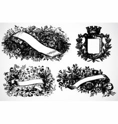 victory floral wreaths vector image