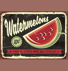 Watermelons retro advertise vector
