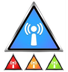 wifi antennae signal free wifi spot-area-cafe vector image