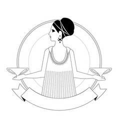 woman dressed in style ancient greece vector image