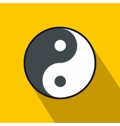 Ying yang icon flat style vector image