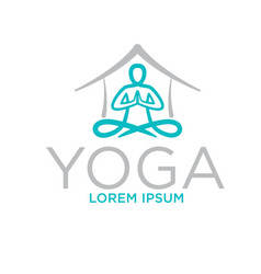 yoga home logo designs vector image