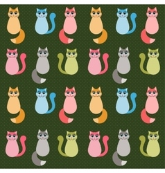 Background with colorful cats vector image vector image
