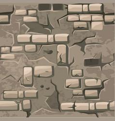 cartoon seamless pattern texture old crack vector image