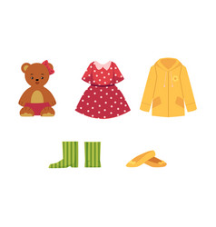 dress shoes coat teddy bear shoes and boots vector image