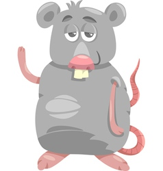 Funny rat cartoon vector