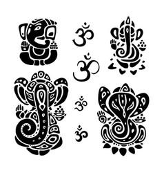 hindu god ganesha ganapati vector image vector image