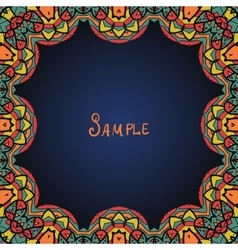 Kaleidoskopic frame Ornate frame with paisley vector image vector image