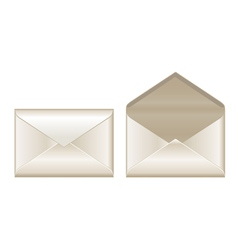 Open and closed envelopes vector image