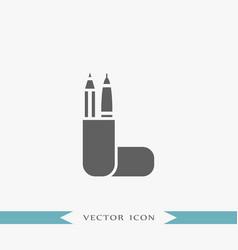 pencil case icon simple vector image