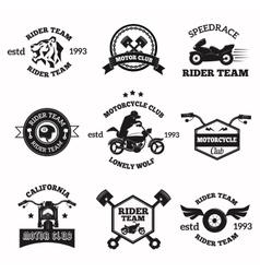 Bikers badges emblems icons vector image