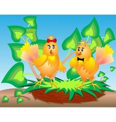 Cartoon Birds Nest vector image vector image