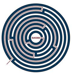 circle labyrinth vector image