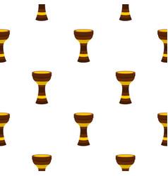 darbuka musical instrument pattern seamless vector image vector image