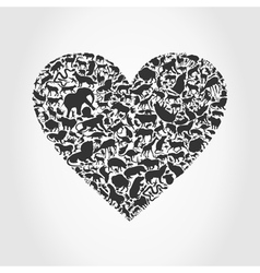 Heart animal3 vector image
