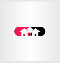 house logo symbol icon clip art vector image