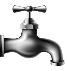Metallic water tap vector image vector image
