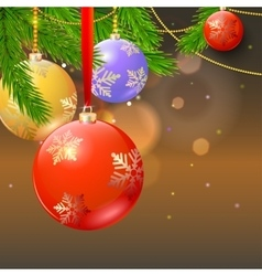 New year composition on blurred background vector image vector image