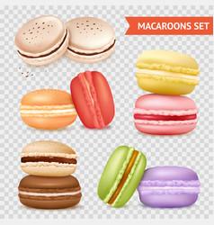 almond cookies transparent set vector image vector image