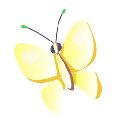 Butterfly icon cartoon style vector image