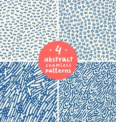 Doodle abstract patterns part 4 vector image vector image