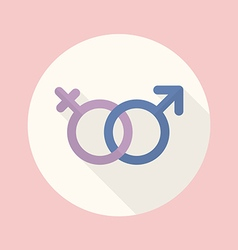 Gender symbol flat icon vector image vector image