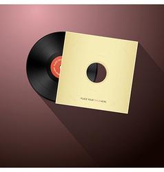 Retro Vinyl Record Disc in Paper Cover vector image vector image