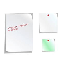 white stickers vector image