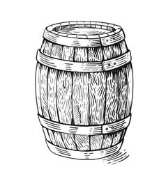 wood barrel vector image vector image