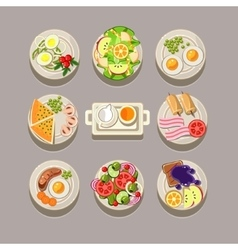 Breakfast Concept With Fresh Food vector image vector image
