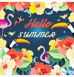 Bright summer background vector image