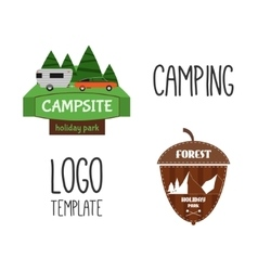 Set of Adventure Outdoor Tourism Travel Logo vector image vector image