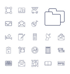 22 information icons vector