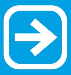 Arrow in square icon white vector