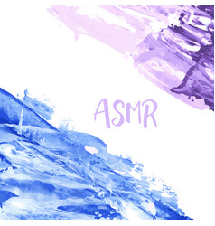 Asmr watercolor logo autonomous sensory meridian vector
