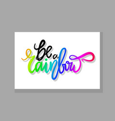 be a rainbow graffiti icon vector image