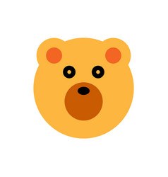 bear cartoon animal head vector image