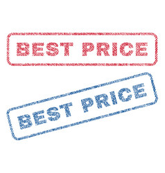 Best price textile stamps vector